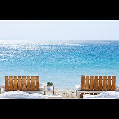 Ornos beach in Mykonos. View from the Mykonos Ammos Hotel & Resort - @mykonosammoshotel | Webstagram