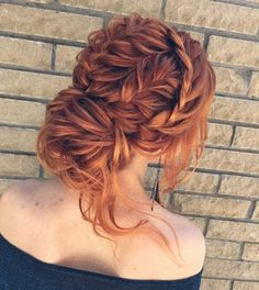 Braid + Messy updo w