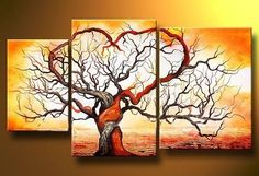 Old Banyan Tree, Art work for beautiful room decoration - Direct Art Australia, Price: $389.00, Shipping: Free Shipping, Size of Parts: 30cm x 55cm x 1 panel + 40cm x 80cm x 1 panel + 40cm x 70cm x 1 panel, Total Size (W x H): 110cm x 80cm, Delivery: 14 - 21 Days, Framing: Framed & Ready to Hang!  Not a Print - our artists are professionally trained and use the best oil paints.  http://www.directartaustralia.com.au/
