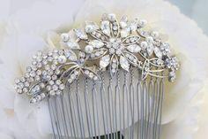 Vintage Inspired Pearls bridal hair combwedding hair by bridalwear