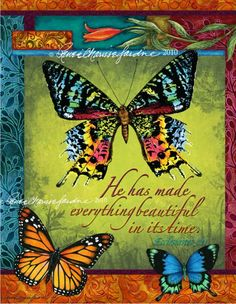 Butterfly Beautiful Glicee Print Artist Signed by StudioJardine, $25.00