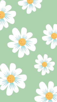 Daisy Wallpaper, Free Wallpaper Backgrounds, Vintage Flowers Wallpaper, Whatsapp Wallpaper, Flower Background Wallpaper, Flower Phone Wallpaper, Watercolor Wallpaper, Summer Wallpaper, Cute Patterns Wallpaper
