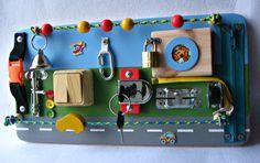 Board-Straße sensorische Kinder Spiel von MagicRabbitToy auf Etsy