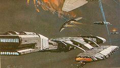Battlestar Galactica Concept Art