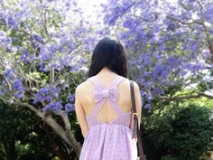 Jac // http://stylesmorgasbord.com // lilac crochet bow back dress ootd outfit of the day style blogger sydney blogger fashion clothes girl teenager cute pretty stylish //