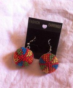 Palestinian embroidery cross stitch tatreez earings. Price $15