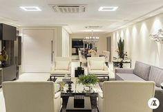 @_decor4home Living e jantar integrados by Arquiteta Alessandra Lessa! Foto by Lyssandro Silveira