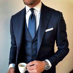 Cheap Mens Fashion, Mens Fashion Blog, Fashion Mode, Mens Fashion Suits, Mens Suits, Mens Custom Suits, Fashion Clothes, Fashion Hair, Blue Suit Wedding