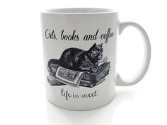 CHATS livres et café  Life is Sweet  11 par DeliciousAccessories