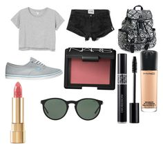 """""""Sem título #188"""" by toniagostini on Polyvore featuring moda, Monki, Abercrombie & Fitch, Vans, Aéropostale, MAC Cosmetics, NARS Cosmetics, Dolce&Gabbana, Christian Dior e Polo Ralph Lauren"""