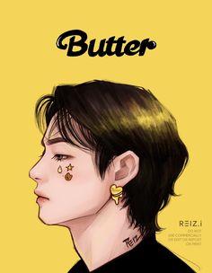 Taehyung Fanart, Bts Taehyung, Fan Art, First Come First Served, Butter, Run Bts, Bts Chibi, Bts Fans, Jinyoung