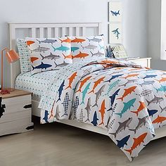 Rifilikesthis You Need These Preppy Shark Sheet Set