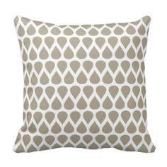 Beige Dots Geometric Pattern Pillows Save 15% on all pillow orders! LAST DAY Use Code: ZAZTAXSAVING