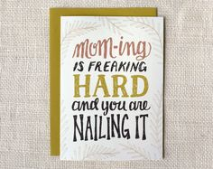 """Mom-ing"" Mother's Day Card 