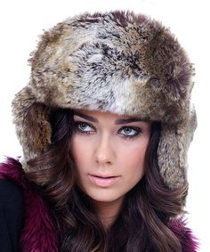 Look at this #zulilyfind! Imposter Gray & Brown Faux Coyote Fur Trapper Hat by Imposter #zulilyfinds