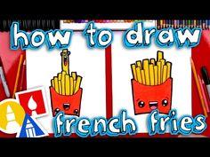 How To Draw Funny French Fries - YouTube