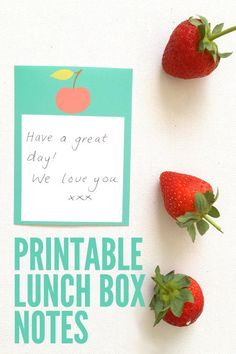 Printable lunch box love notes: perfect for sending your child off with a little extra encouragement.