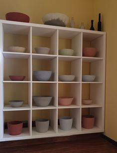 Concrete Wood, Shelving, Home Decor, Bowl Of Fruit, Homes, Shelves, Decoration Home, Room Decor, Shelving Units