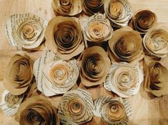 20 rustic paper roses wedding decorations by SimplyRusticEvents