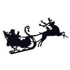 santa in sled silhouettes | Free Santa Sleigh | Christmas: Silhouette Cameo Ideas