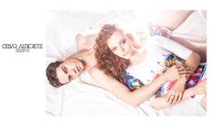 Cesar Alderete Spring Summer 2014  Photography / Elena Soriano Art Creative & Styling / Tino Portillo & Benjamin Larroque Make-up Artist & Hairstylist / Pamela Segura Models / Jackie Crespo @ Queta Rojas & Mariano @amanda! MANAGEMENT