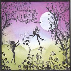 Mia en small pixies van Lavinia. De boom stempel is van ARTSpecially for You Nature en Wild Flower Sprigs