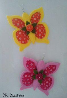 farfalle calamita in feltro e pannolenci #crcreations #farfalle #butterfly #calamita #handmade #handmadeinitaly