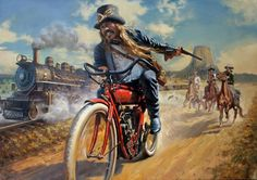 """The first """"outlaw"""" biker? - David Uhl - see more cool motorcycle goodness at…"""