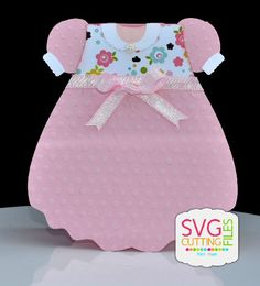 Dress Shape Card - Adorable!!! -- SVG Cutting Files