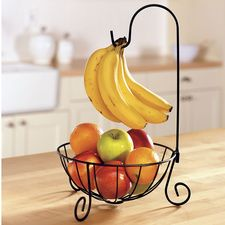 Wrought-iron Banana Tree with Basket #HouseholdOrganization #OrganizationIdeas