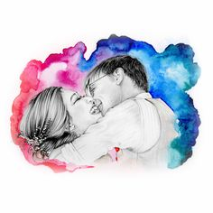 gift of new parents,mother father original pencil sketch custom kid and infants portrait birthday,baptism,christening gift.