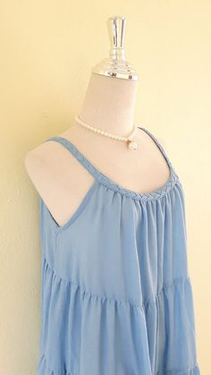New beautiful the indigo/Dress in layers of by MadeDress on Etsy