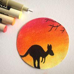 Kangaroo drawing AnnaR.
