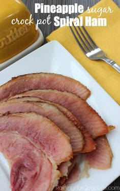 Crock Pot Pineapple Brown Sugar Spiral Ham