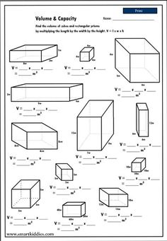 5th Grade Math Volume Worksheets | Kids Study | volume | Pinterest ...
