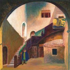 File:Csontváry Kosztka Tivadar - 1901 - A Palazzo Corvaia Taorminában (Olasz halász). True Art, Art Auction, Art Nouveau, Stock Photos, Antiques, Gallery, Illustration, Artwork, Painting