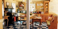 """""""I like to cook as much as I like to garden!"""" says Lucinda. Enamored of English country-house kitchens, she designed hers around a big, vintage Wolf stove. Lucinda waited 11 years to finally buy the sturdy black stove she craved. Meanwhile, a Vermont drop-leaf table entered the scheme, plus a baker's table and a plate rack from Ireland. """"I love that nothing matches,"""" she says. Here, from patch to pot, come Hungarian peppers (for homemade paprika), exotic eggplants, herbs, tomatoes, and edible flowers."""