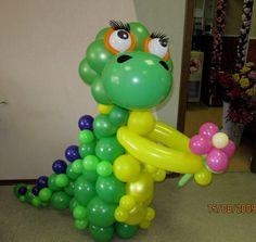 """Злой Динозавр - Как ЭТО сделать? - Клуб """"Воздушные шары"""""""