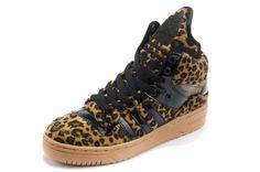 Women Adidas Originals Metro Attitude Fashion W Leopard Black Shoes