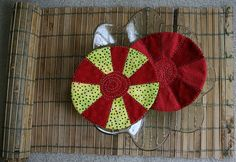 'Peppermints'  Mug-rugs by Rangoli45, via Flickr