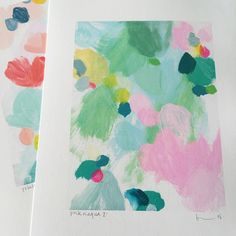 another new print 'pink n aqua 2' now available in 3 sizes (shop link in profile). my love of turquoises showing clearly! #art #print #new #abstract #aqua #turquoise #pink #belindamarshall