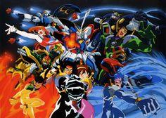 (機動武闘伝Gガンダム) Mobil Fighter G Gundam. A Mecha anime filled with martial arts and science fiction. Under orders from Major Ulube Ishikawa, Domon and his childhood friend and mechanic Rain Mikamura travel from country to country, challenging each one's Gundam while searching for clues to the whereabouts of Kyoji and the Dark Gundam