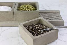 KONKRETE SALZ & SPICE CADDY - FARBE: GRAU ODER WEIß Ebenso steht zu Hause auf Ihrem Zähler oben, während Sie kochen oder als elegante Tischservice,
