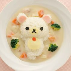 food, kawaii, and rilakkuma imageの画像 Kawaii Bento, Japanese Food Art, Japanese Sweets, Japanese Lunch, Cute Bento Boxes, Kawaii Cooking, Bento Recipes, Cute Desserts, Aesthetic Food