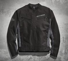 What's awesome about the is its versatility. Mesh ensures venting comfort when things heat up while the removable lightweight nylon liner combats chilly breezes. This textile motorcycle jacket is ready for the road in either condition. | Harley-Davidson Men's Stealth Textile & Mesh Jacket