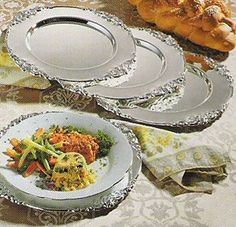 Godinger Silverplated Charger Plates, Baroque Design