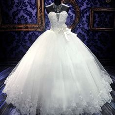Beautiful jeweled bridal gown inspired by maggie sottero