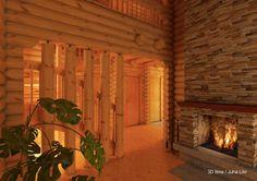 Chalets bois kontio on pinterest chalets php and cottages - Interieur de chalet en bois ...