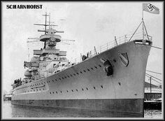 The German battleship Scharnhorst.