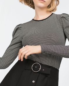 Image 1 of LONG SLEEVE TOP from Zara